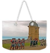 Fife And Drum Parade In Louisbourg Living History Museum-1744-ns Weekender Tote Bag