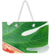 Fig And Leaf Weekender Tote Bag