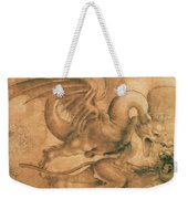 Fight Between A Dragon And A Lion Weekender Tote Bag