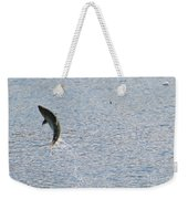 Fighting Chinook Salmon Weekender Tote Bag