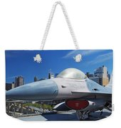 Fighting Falcon At Interpid Museum Weekender Tote Bag
