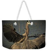 Fighting Great Blue Herons Weekender Tote Bag