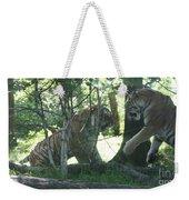 Fighting Siberian Tigers Weekender Tote Bag