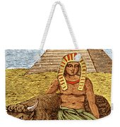 Figure Symbolizing Egyptian Weekender Tote Bag by Getty Research Institute