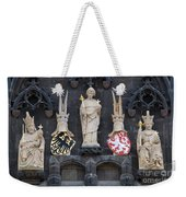Figures On Staromestska Vez In Prague Weekender Tote Bag