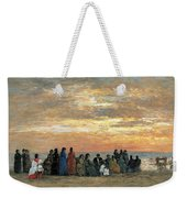 Figures On The Beach In Trouville Weekender Tote Bag