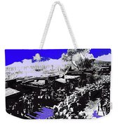Film Homage Arizona 1940 Publicity Photo Cattle Drive Main Street Old Tucson 1940-2008 Color Added Weekender Tote Bag