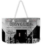 Film Homage Butch Cassidy 1969 Russell And Sheldon Bicycles C.1895 Tucson Arizona 2008 Weekender Tote Bag