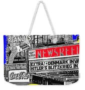 Film Homage Embassy Newsreel Theater 1940 Times Square New York City 2008 Weekender Tote Bag