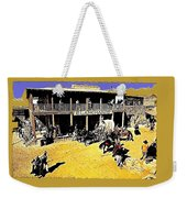 Film Homage Extras Unknown Production Old Tucson Arizona Color Added Weekender Tote Bag