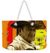 Film Homage John Wayne Andy Warhol Inspired Rio Lobo Variation 1 Old Tucson Arizona 1970-2009 Weekender Tote Bag