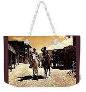 Film Homage Mark Slade Cameron Mitchell Riding Horses The High Chaparral Old Tucson Arizona Weekender Tote Bag
