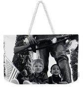 Film Homage Tearing Down The Spanish Flag 1898 Veteran's Day Parade 1984 Armory Park Tucson Weekender Tote Bag