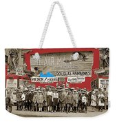 Film Homage The Air Mail  Leader Theater Washington D.c. 1925-2010 Weekender Tote Bag