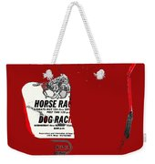 Film Noir Jim Thompson The Grifters 1990 1 Horse Dog Tracks Sign Juarez 1977 Weekender Tote Bag