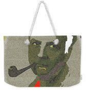 Film Noir Mystery Writer Raymond Chandler Vignetted Texture Color Added 2013 Weekender Tote Bag