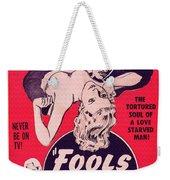 Film Poster Fools Of Desire 1930s Weekender Tote Bag