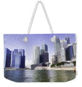 Financial District Of Singapore And View Of The Water Weekender Tote Bag