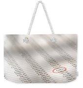 Financial Spreadsheet Weekender Tote Bag
