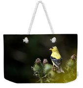 Finch In The Thistles Weekender Tote Bag