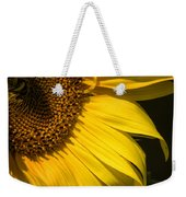 Find The Spider In The Sunflower Weekender Tote Bag by Belinda Greb