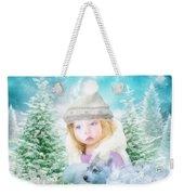 Finding Santa Weekender Tote Bag by Mo T