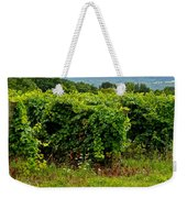Finger Lakes Vineyard Weekender Tote Bag by Frozen in Time Fine Art Photography