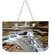 Finger Lakes Waterfall Weekender Tote Bag