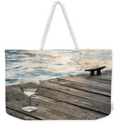 Finger Lakes Wine Tasting - Wine Glass On The Dock Weekender Tote Bag