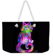 Finger Painted Cat Weekender Tote Bag