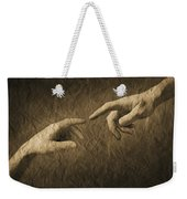 Fingers Almost Touching Weekender Tote Bag
