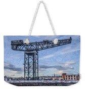 Finnieston Crane Glasgow Weekender Tote Bag