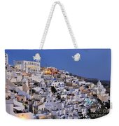 Fira Town During Dusk Time Weekender Tote Bag