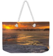 Fire And Ice Cropped Weekender Tote Bag