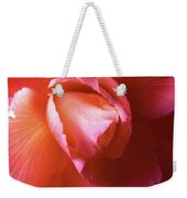 Fire And Ice Floral Begonia Weekender Tote Bag