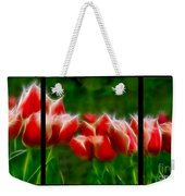 Fire And Ice Fractal Triptych Weekender Tote Bag