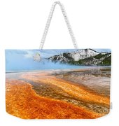 Fire And Ice - Grand Prismatic Spring On A Cloudy Day. Weekender Tote Bag