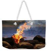 Fire And Smoke Weekender Tote Bag