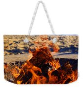 Fire At The Beach Weekender Tote Bag