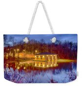 Fire Department Rescue Building On Water Weekender Tote Bag
