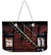 Fire Escape And Windows Weekender Tote Bag by Bob Orsillo