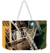 Fire Escapes In Blue And Gold Weekender Tote Bag