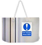 Fire Exit Weekender Tote Bag