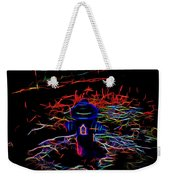 Fire Hydrant Bathed In Neon Weekender Tote Bag