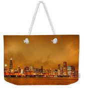 Fire In A Chicago Night Sky Weekender Tote Bag