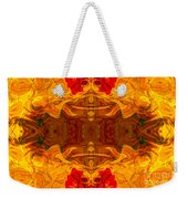 Fire In The Sky Abstract Pattern Artwork Weekender Tote Bag