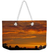 Fire In The Sky Weekender Tote Bag by Ann Horn