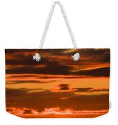 Fire In The Sky Weekender Tote Bag by Anne Gilbert