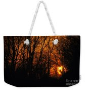 Fire In The Woods Sunset Weekender Tote Bag