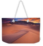 Fire On Mesquite Dunes Weekender Tote Bag by Darren  White